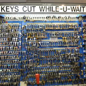 Keys cut while you wait