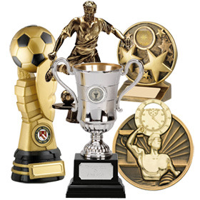 A selection of trophies
